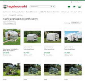 Gewächshaus kaufen im Baumarkt hagebau