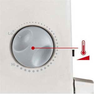 Frostwächter Gewächshausheizung Bedienung Drehknopf Temperaturregelung