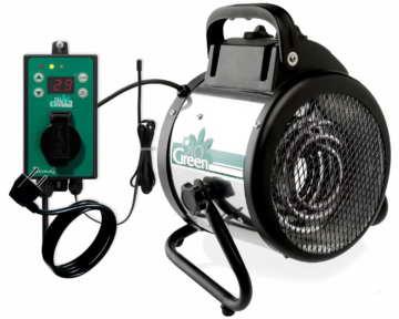 Bio Green Elektrogebläseheizung Palma digital + Thermostat Thermo 2