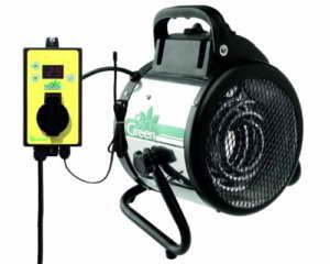 Bio Green Elektrogebläseheizung Palma digital, silber/schwarz, 2000 Watt - 1