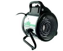 Bio Green Elektrogebläseheizung Palma manuell, silber/schwarz, 2000 Watt - 1