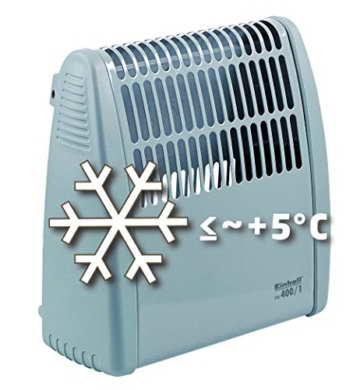 Einhell Frostwächter FW 400/1 (400 Watt, stufenloses Thermostat, Wandgerät, Frostschutz) - 3