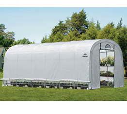 ShelterLogic Gewächshaus, Foliengewächshaus, Tomatenhaus // 730x370x250cm (LxBxH) // 27m² // Folienhaus & Folienzelt - 1