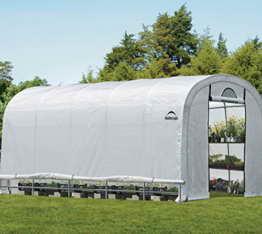 ShelterLogic Gewächshaus, Foliengewächshaus, Tomatenhaus // 610x370x250cm (LxBxH) // 22,57m² // Folienhaus & Folienzelt - 1