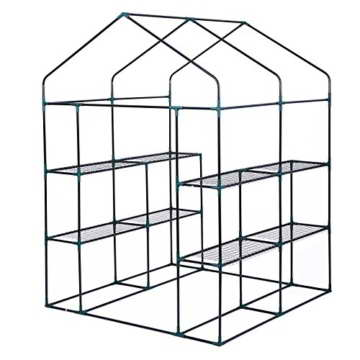 Songmics Foliengewächshäuser Tomatenhaus mit 130 g/m² PE 143 x 143 x 195 cm GWP12L - 4