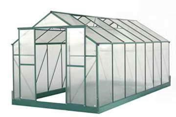 12,5m² PROFI ALU Gewächshaus Glashaus Treibhaus inkl. Stahlfundament u. 6 Fenster, mit 6mm Hohlkammerstegplatten - (Platten MADE IN AUSTRIA) von AS-S - 7