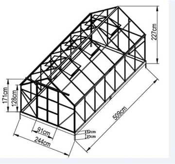 12,5m² PROFI ALU Gewächshaus Glashaus Treibhaus inkl. Stahlfundament u. 6 Fenster, mit 6mm Hohlkammerstegplatten - (Platten MADE IN AUSTRIA) von AS-S - 2
