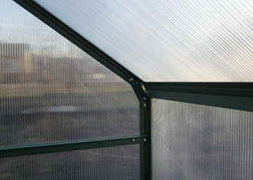 9m² PROFI ALU Gewächshaus Glashaus Treibhaus inkl. Stahlfundament u. 4 Fenster, mit 6mm Hohlkammerstegplatten - (Platten MADE IN AUSTRIA/EU) von AS-S - 6