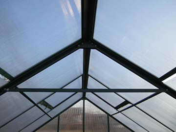 9m² PROFI ALU Gewächshaus Glashaus Treibhaus inkl. Stahlfundament u. 4 Fenster, mit 6mm Hohlkammerstegplatten - (Platten MADE IN AUSTRIA/EU) von AS-S - 7