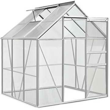 Aluminium Gewächshaus 5,85m³ / 7,6m³ Alu Gartenhaus Treibhaus Frühbeet - 2