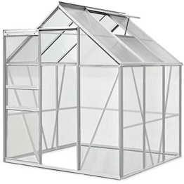Aluminium Gewächshaus 5,85m³ / 7,6m³ Alu Gartenhaus Treibhaus Frühbeet - 1