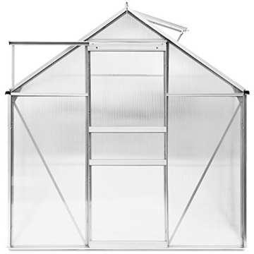 Aluminium Gewächshaus 5,85m³ / 7,6m³ Alu Gartenhaus Treibhaus Frühbeet - 5