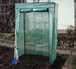 Gewächshaus GreenHouse COMPACT Breite: 105cm Tiefe: 0,55cm Höhe: 155cm Tomatenhaus Frühbeet Pflanzenhaus Folienzelt - 1
