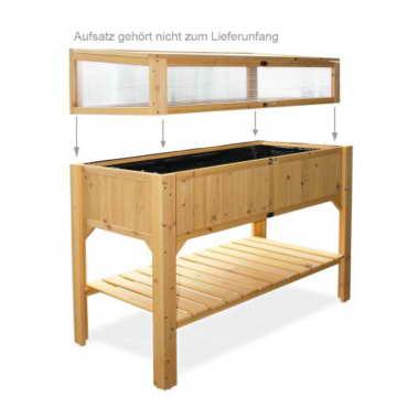 Habau Hochbeet mit Ablage, Gelb, 119 x 57 x 90 cm - 2