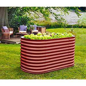 Hochbeet Basic aus Zincalume® 1,2 m² Ziegelrot 0,82 x 1,62 x 0,86 m - 1