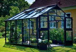 Juliana Gewächshaus Premium 10.9 anthrazit Blankglas - 1