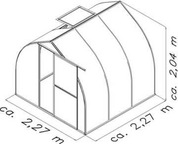 KGT Gewächshaus »Rhodo III (BxT: 227x227)« anthrazit - 2