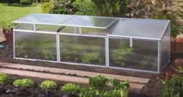 Pergart Frühbeet Gaia 3x, 180 x 50 cm, 3 Dachfenster - 1