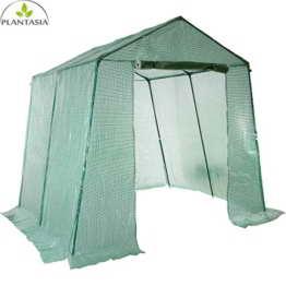 PLANTASIA® Foliengewächshaus Tomatenzelt mit extra langem Überhang, Größenauswahl, UV- und witterungsbeständig - 2
