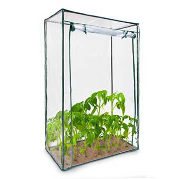 Relaxdays Tomatengewächshaus ca. 150 cm hoch, Stecksystem - Stahlrohr + Folie - 2