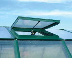 """RION Kunststoff Gewächshaus """"GH Modul"""" (124 x 259 x 207) + Dachfenster & Fundament - 3"""