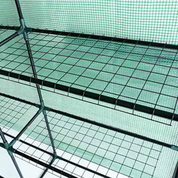 Songmics Foliengewächshäuser Gewächshaus mit 130 g/m² PE Gitterplane 215 x 143 x 195 cm GWP13L - 8