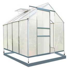 Zelsius - 4,75m² Aluminium Gewächshaus, Garten Treibhaus, 6 mm Hohlkammerstegplatten, inkl. Stahl-Fundament-Rahmen - 1