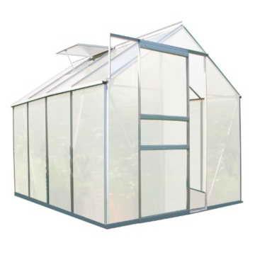 Zelsius - Aluminium Gewächshaus, Garten Treibhaus in verschiedenen Größen, mit Hohlkammerstegplatten, wahlweise mit Stahl-Fundament-Rahmen (190 x 250 cm - 4 mm Platten, ohne Fundament) - 1