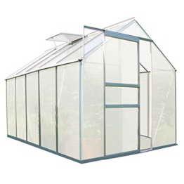 Zelsius - Aluminium Gewächshaus, Garten Treibhaus in verschiedenen Größen, mit Hohlkammerstegplatten, wahlweise mit Stahl-Fundament-Rahmen (190 x 310 cm - 6 mm Platten, ohne Fundament) - 1