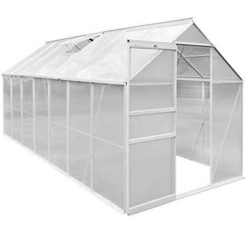 Aluminium Gewächshaus 15,93 m³ Treibhaus Gartenhaus Frühbeet Pflanzenhaus Aufzucht -