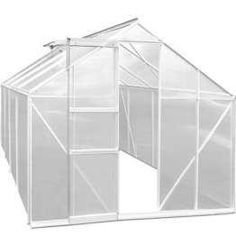 Gewächshaus Alu 11,38m² 250x280x195cm Treibhaus Frühbeet Pflanzenhaus Tomatenhaus Pflanzenhaus -