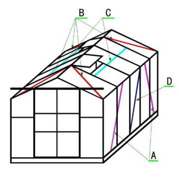 Outsunny® Alu Gewächshaus Treibhaus Frühbeet Tomatengewächshaus 6,25 m² - 9,28 m², 4 Größen 2 Typen NEU (M ohne Stahlfundament) -