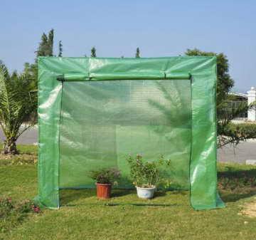 Outsunny Gewächs-/Treib-/Tomatenhaus Frühbeet 200 x 77 x 169 cm, grün -