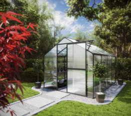 KGT Gewächshaus für Garten & Pflanzenhaus Flora IV moosgrün