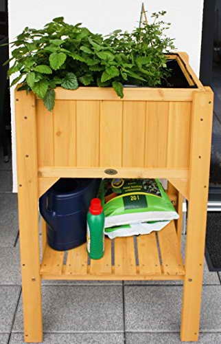 Habau 2853 Hochbeet Kompakt mit Ablage, gelb -