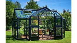JULIANA Gewächshaus Orangerie 15,2, B/T/H: 439/296/256 cm, anthrazit anthrazit -