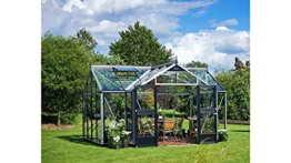 JULIANA Gewächshaus Orangerie, BxT: 439x296 cm, silberfarben silberfarben -