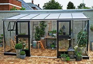 juliana anlehngew chshaus veranda 4 4 alu anthrazit esg 3mm 4 4m. Black Bedroom Furniture Sets. Home Design Ideas