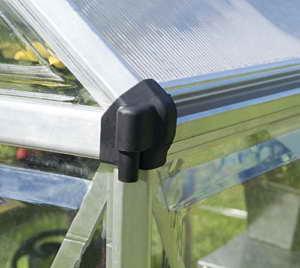 Palram Aluminium Gewächshaus Gartenhaus Hybrid 6x8 Silber // 250x185x209 cm (LxBxH); Treibhaus & Tomatenhaus zur Aufzucht -