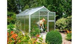 BECKMANN Gewächshaus Allplanta® 3, BxT: 270x508 cm, aluminiumfarben silberfarben -