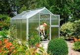 BECKMANN Gewächshaus Allplanta® 4, BxT: 270x606 cm, aluminiumfarben silberfarben -