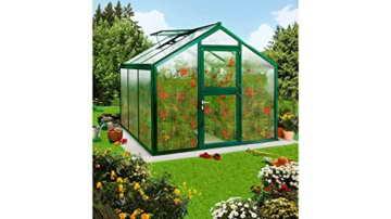 BECKMANN Gewächshaus Allplanta® 4, BxT: 270x606 cm, grün dunkelgrün -