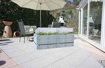 Juwel Balkon Hochbeet Terassenbeet Pflanzen Basalt grau 20883 -
