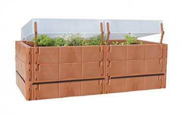 Juwel Balkon Hochbeet Terassenbeet Pflanzen terracotta 20275 -