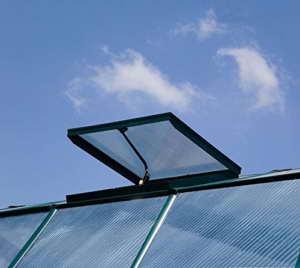 """RION Kunststoff Anlehngewächshaus / Wintergarten """"Sun Lounge 38"""" (510 x 201 x 247) (TxBxH) + Dachfenster -"""