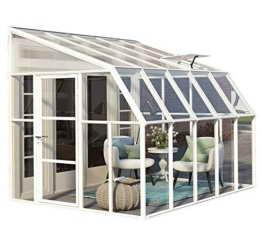 """RION Kunststoff Anlehngewächshaus / Wintergarten """"Sun Room 45"""" (322 x 258 x 266cm (TxBxH) + Dachfenster -"""