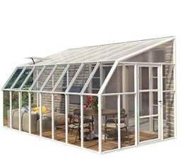 """RION Kunststoff Anlehngewächshaus / Wintergarten """"Sun Room 48"""" (508 x 258 x 266cm (TxBxH) + Dachfenster -"""