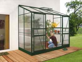 Vitavia Anlehngewächshaus Ida 3300 HKP 4 mm 3,30 m², dunkelgrün -