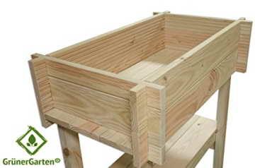 Bio-Hochbeet für Balkon und Terasse GrünerGarten®