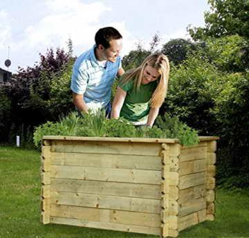 Hochbeet 150x100x82 cm aus Holz imprägniert ohne Boden von Gartenpirat® -